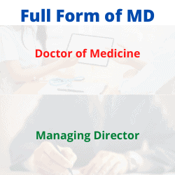 Full Form of MD