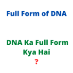 DNA Ka Full Form